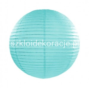 Lampion Papierowy Tiffany Blue 25 cm.