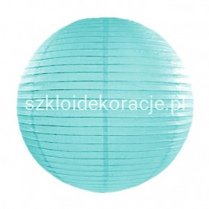 Lampion Papierowy Tiffany Blue 35 cm.