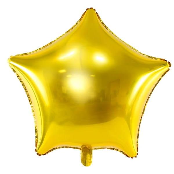Balon Foliowy Złota Gwiazda